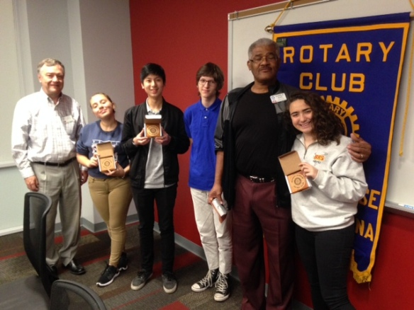 AFS Exchange Students Visit Hickory Sunrise Rotary Club